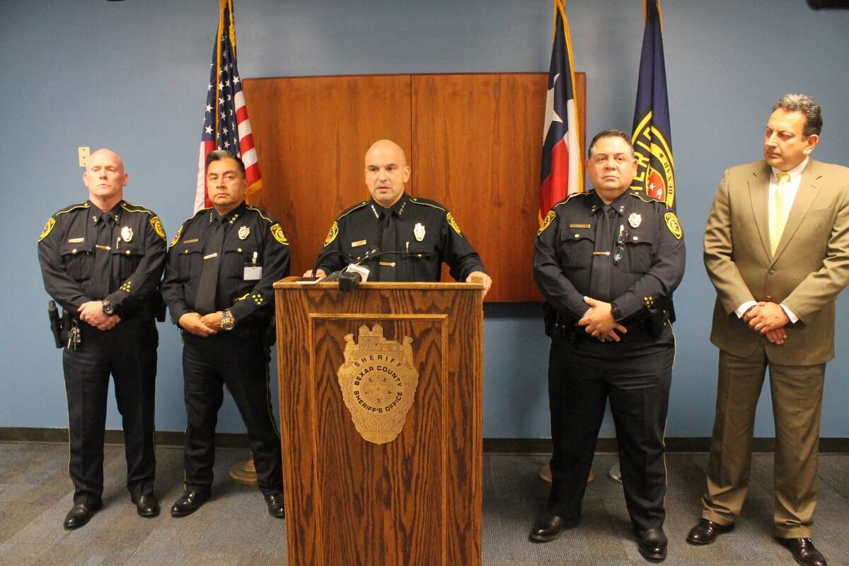 Sheriff Javier Salazar hold a press conference regarding seven deputies accused in a hazing incident.
