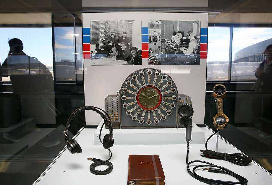 """""""Flying the Main Line,"""" a history of United Airlines, is on display in Terminal 3 at the San Francisco International Airport. Photo: Liz Hafalia, The Chronicle"""