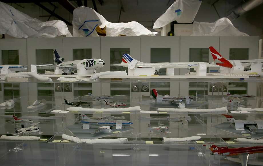 Model airplanes being prepared by the SFO Museum for its next exhibition at the airport. Photo: Liz Hafalia, The Chronicle