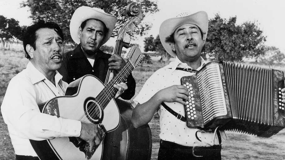 """A norteño conjunto or ensemble, in a scene from Les Blank's 1976 documentary """"Chulas Fronteras"""" (""""Beautiful Borderlands""""). Photo: Brazos Films/1976"""