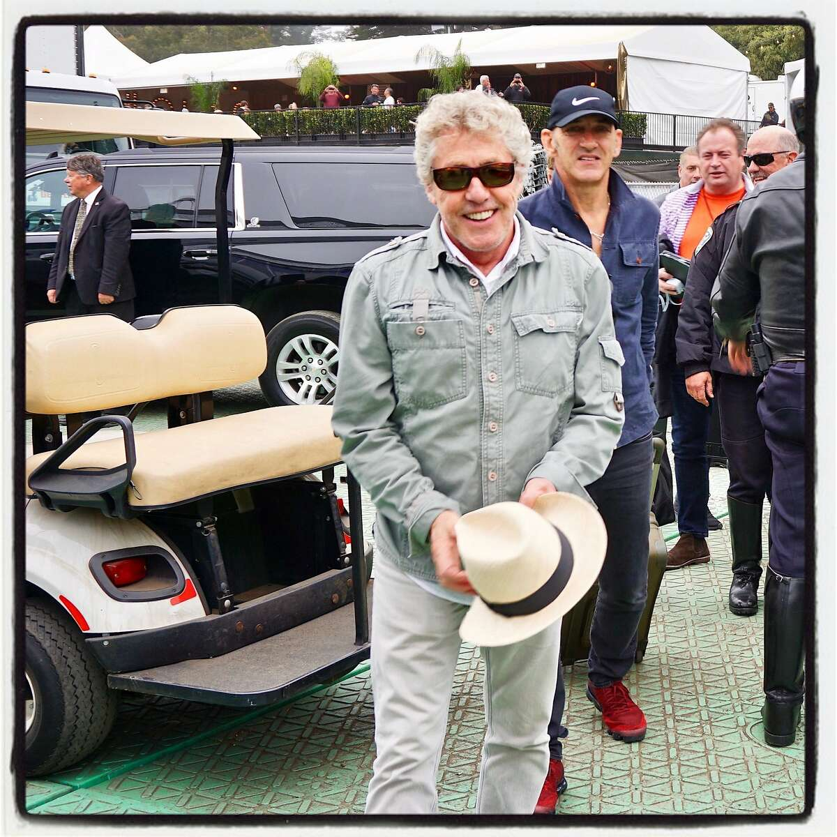 Rock god Roger Daltrey knew to bring his hat to The Who's Outside Lands headliner. Aug. 13, 2017.