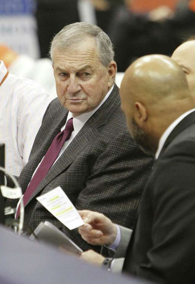 Former UConn coach Jim Calhoun is contemplating a return to the sidelines. Photo: Nick Lisi / Associated Press / FR171024 AP