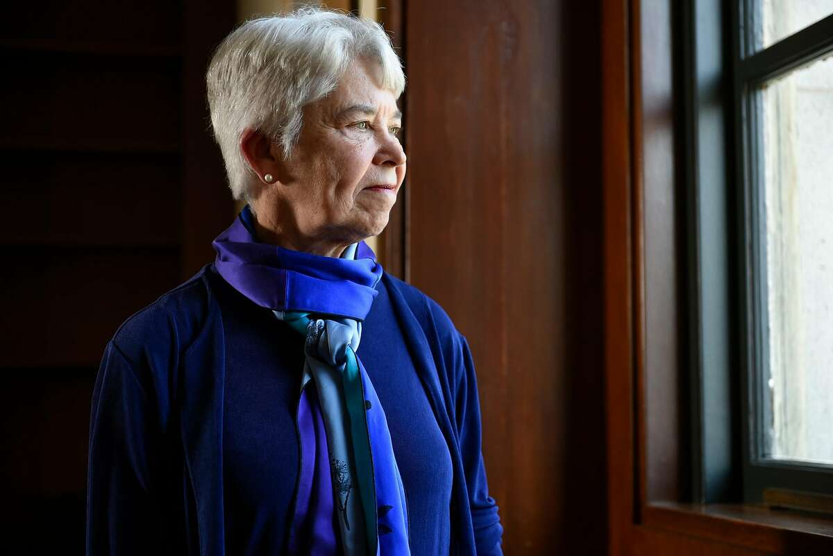 New UC Berkeley Chancellor Carol Christ poses for a portrait in her office at California Hall on the Cal campus in Berkeley, CA, on Thursday July 6, 2017.