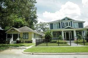 Part of the motivation for the approval process is to keep larger home from overwhelming smaller ones with different esthetic in the  Historic Heights neighborhood on Monday, Aug. 14, 2017, in Houston. ( Elizabeth Conley / Houston Chronicle )