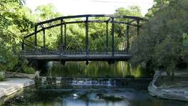 The Brackenridge Park Bridge was built in 1890 by the Berlin Iron Bridge Co. of East Berlin, Conn. It's one of several historic iron bridges still being used in San Antonio.