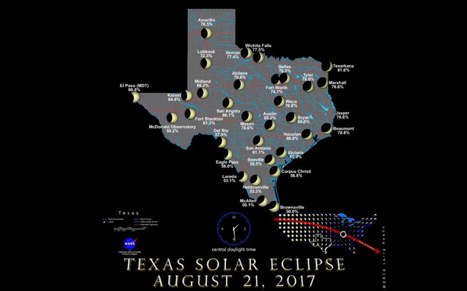 Texas' upcoming solar eclipseA new NASA video shows how the upcoming total solar eclipse will look like in Texas.Click through to see the best places in Texas to view the 2024 solar eclipse.