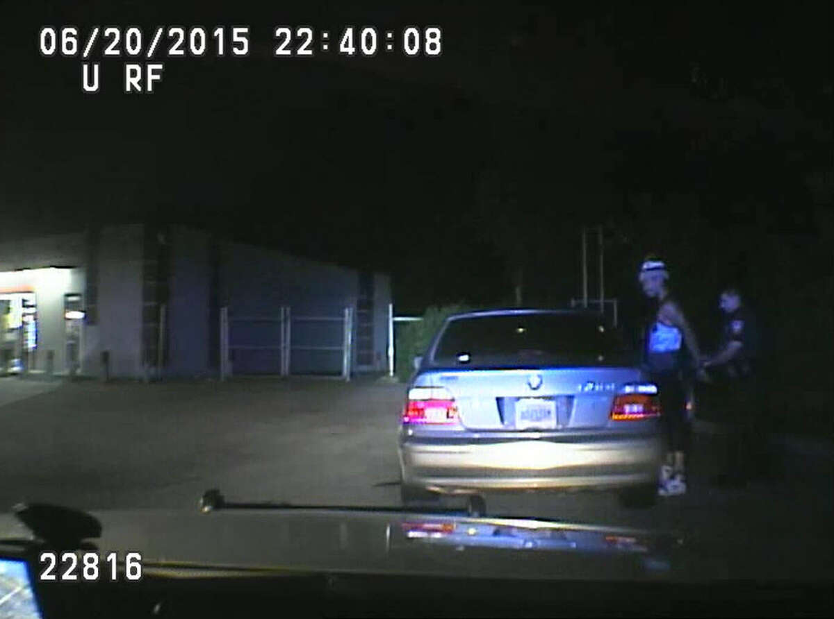 Harris County Sheriff's Office dashcam video shows two deputies conduct a traffic stop and body cavity search of Charneshia Corley, a 23-year-old black woman, in June 2015. Corley has filed a civil rights lawsuit against the sheriff's department, claiming the roadside search violated her civil rights.