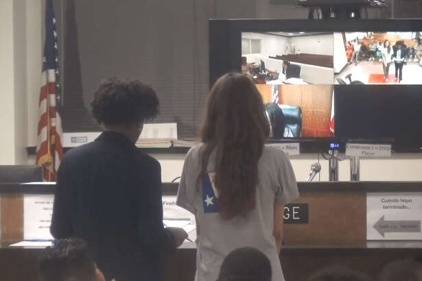 Sidney Woytasczyk appears in front of a Harris County judge early Tuesday, Aug. 15, 2017 on a felony charge of abandoning a child under the age of 15. Woytasczyk is accused of abandoning a baby girl born just hours before on her own kitchen floor in a bush outside her apartment. The baby was allegedly outside covered in ants for five hours before the baby was found by a passerby.