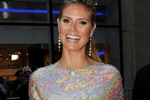 """NEW YORK, NY - APRIL 08:  Heidi Klum attends the """"America's Got Talent"""" New York Auditions at Rockefeller Center on April 8, 2013 in New York City.  (Photo by Bobby Bank/WireImage)"""
