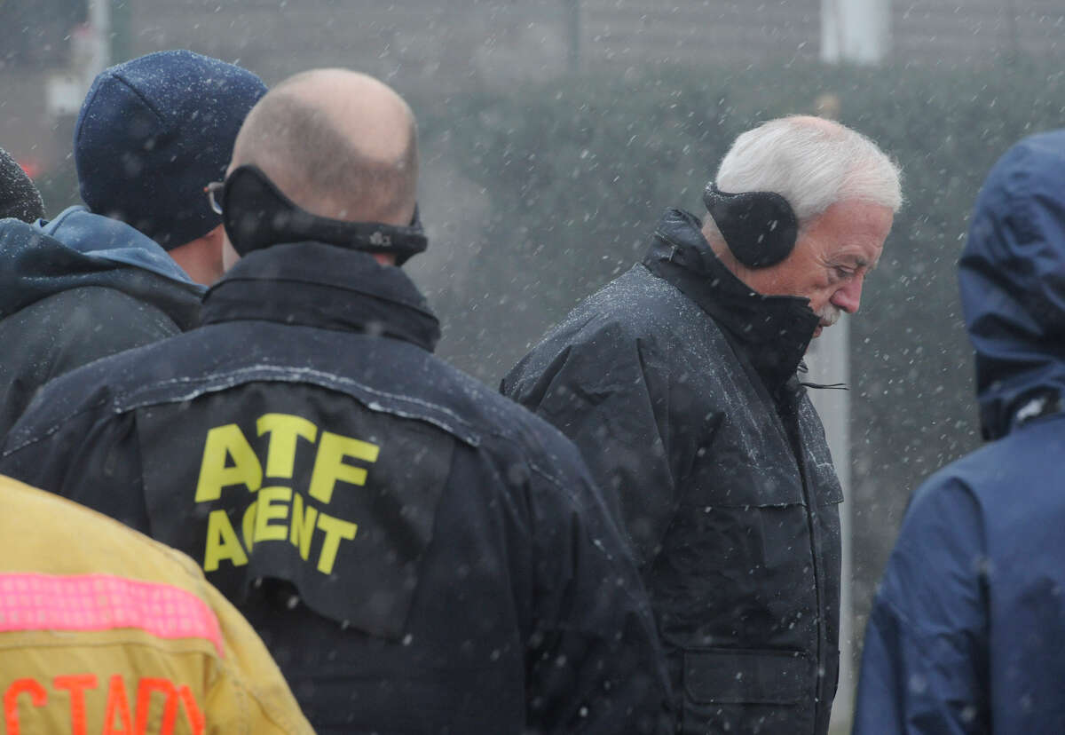 Public Safety Commissioner Wayne Bennett arrived on scene as Schenectady Firefighters with assistance from Rotterdam, Scotia and Niskayuna worked to put down a stubborn fire at the corner of Eastern Avenue and McClellan Street on Dec. 10, 2010, in Schenectady, N.Y.