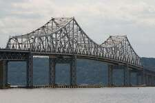 The original Tappan Zee Bridge spanning the Hudson River.