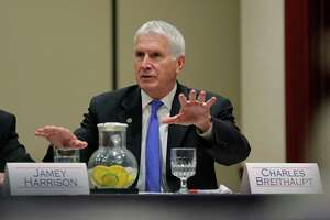 """University Interscholastic League Executive Director Dr. Charles Breithaupt, shown in this 2015 file photo, offered a wide-angle look at where he felt the state of Texas stood, in terms of looking after and protecting the health and safety of its constituent players. """"We think we're in great shape,"""" Breithaupt said. """"But we're not satisfied. We continue to look at new and relevant information we can utilize to make our games safer."""""""