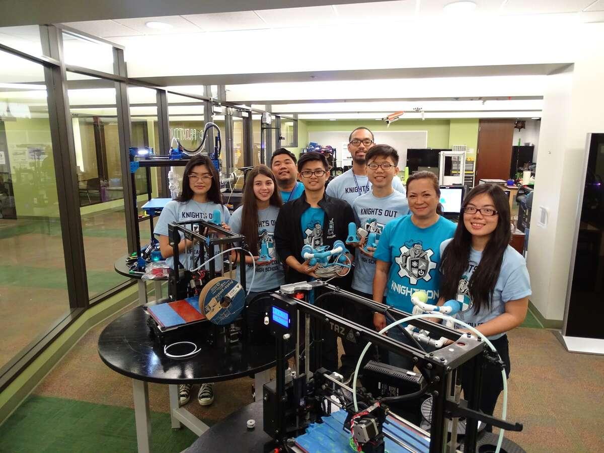 Alief Early College High School STEM Robotics Team placed first in the Houston Regional Seaperch Underwater Robotics Scrimmage.