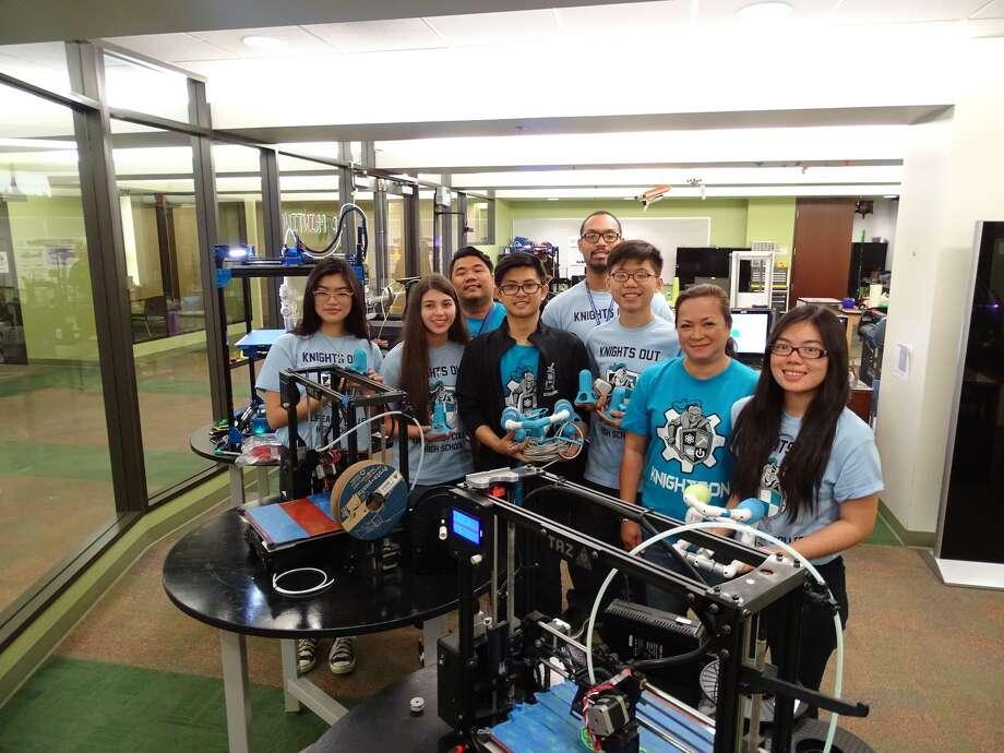 Alief Early College High School STEM Robotics Team placed first in the Houston Regional Seaperch Underwater Robotics Scrimmage. Photo: HCC