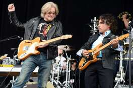 SAN FRANCISCO, CA - AUGUST 11: Musicians Daryl Hall and John Oates of Hall & Oates perform at the Lands End Stage during day 3 of the 2013 Outside Lands Music and Arts Festival at Golden Gate Park on August 11, 2013 in San Francisco, California. (Photo by Jeff Kravitz/FilmMagic)
