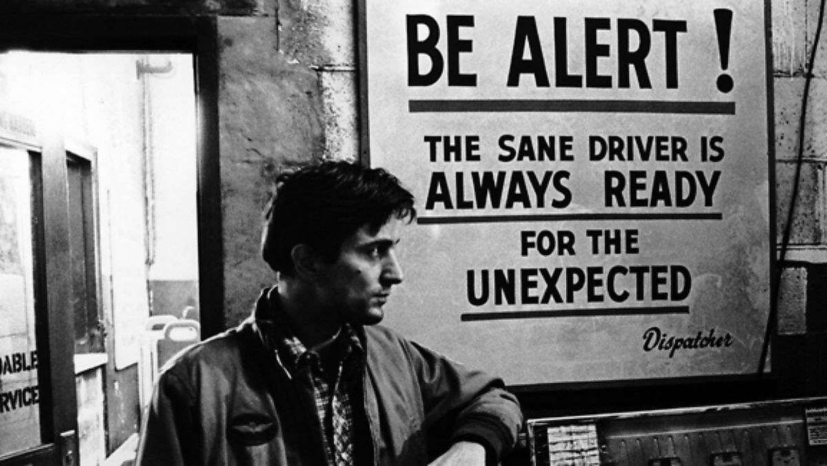 """Robert De Niro as Travis Bickle in Martin Scorsese's and Paul Schrader's """"Taxi Driver."""""""