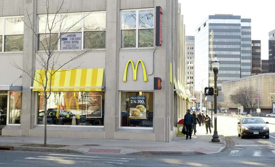 From a part-time worker in Michigan on July 8, 2012:Pros: Good starting pay. Time goes by fast.Cons: Management is horrible. McDonalds managers are more professional than these guys. Photo: Lindsay Perry / Lindsay Perry / Stamford Advocate