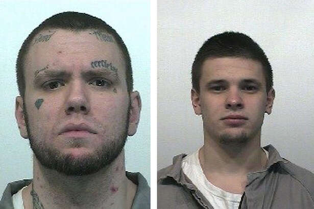 Tyray Munter (left) and Maksim Petrovskiy, who escaped from the Goldendale fire work crew early Tuesday morning.