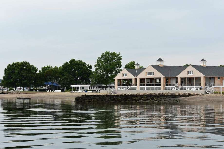 The newly constructed beach house at The Shore and Country Club in Norwalk, which held its grand opening July 29 for members of the private waterside club at 220 Gregory Blvd. The facility includes an open air, seaside terrace dining pavilion with views of Norwalk Harbor and Long Island Sound. Photo: Alexander Soule / Hearst Connecticut Media / Stamford Advocate