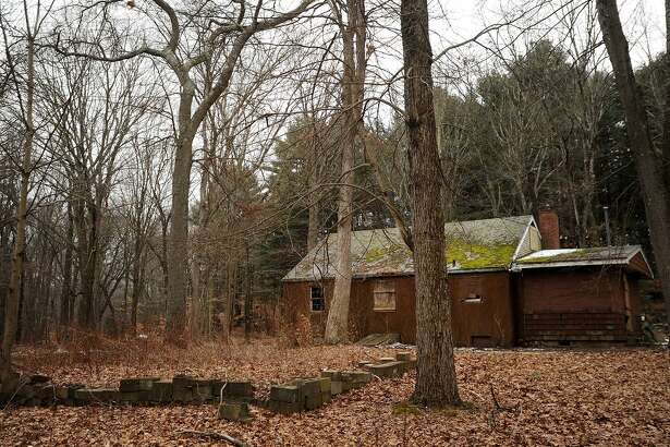 File photo of the boarded up ranger's cabin in Stratford's Roosevelt Forest, which is where the town's new dog park will be situated, officials say.