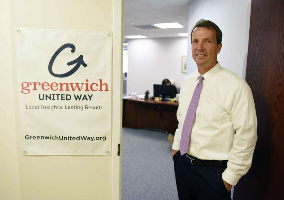 Greenwich United Way CEO David Rabin poses in the United Way's new office space at 500 West Putnam Ave. in Greenwich, Conn. Thursday, Aug. 10, 2017. Greenwich United Way moved out of its old space at 1 Lafayette Court in early July. Photo: Tyler Sizemore / Hearst Connecticut Media / Greenwich Time