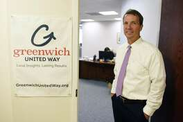 Greenwich United Way CEO David Rabin poses in the United Way's new office space at 500 West Putnam Ave. in Greenwich, Conn. Thursday, Aug. 10, 2017. Greenwich United Way moved out of its old space at 1 Lafayette Court in early July.