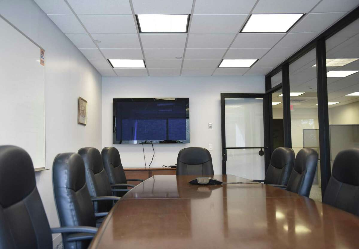 The conference room in the Greenwich United Way's new office space at 500 West Putnam Ave. in Greenwich, Conn. Thursday, Aug. 10, 2017. Greenwich United Way moved out of its old space at 1 Lafayette Court in early July.