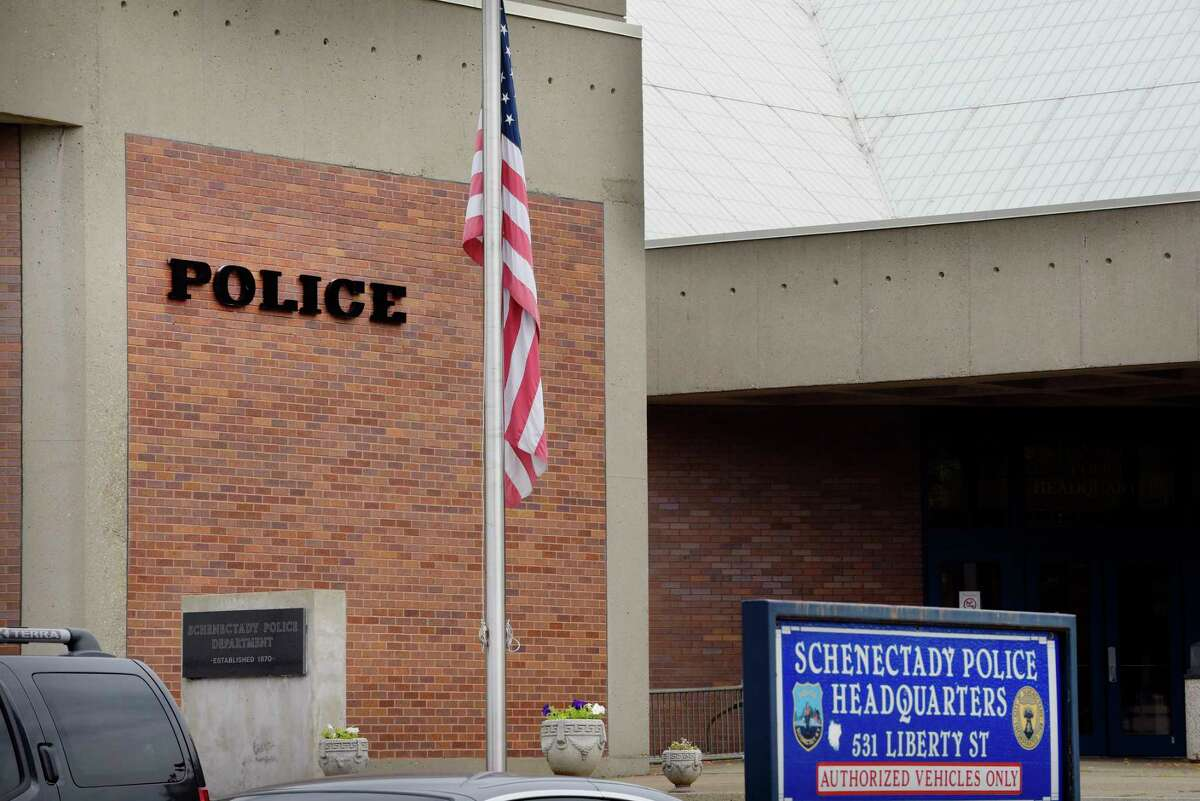 A view of the Schenectady Police station. (Paul Buckowski / Times Union)