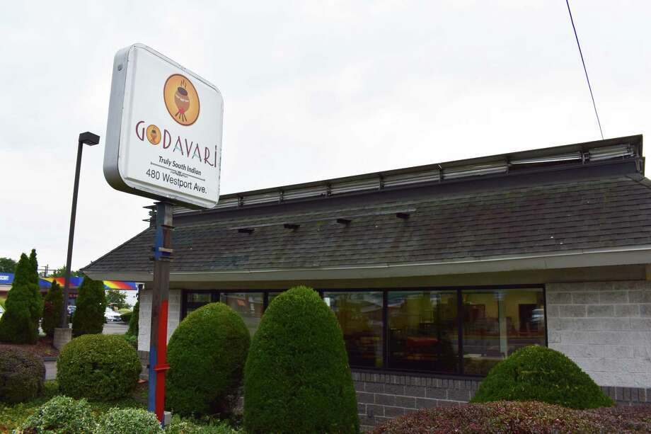 Godavari's sign is up at 480 Westport Ave. in Norwalk. Photo: Alexander Soule / Hearst Connecticut Media / Stamford Advocate