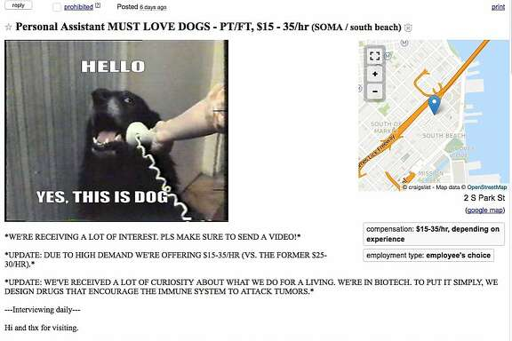A Craigslist ad by a couple seeking an assistant raised eyebrows with its unusual�and possibly illegal�requirements.