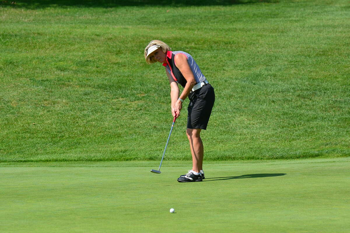 Susan Kahler of the Ballston Spa Country Club competing Tuesday, Aug. 15, 2017, in the New York State Women's Senior Amateur at the Corning Country Club (Dan Thompson/NYSGA)