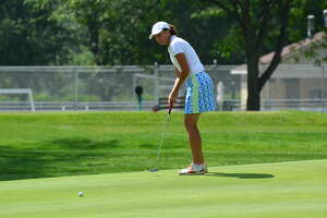 Mary Jo Kelly of the Wolferts Roost Country Club finished second Tuesday, Aug. 15, 2017, in the State Women's Senior Amateur at the Corning Country Club. (Dan Thompson/NYSGA)
