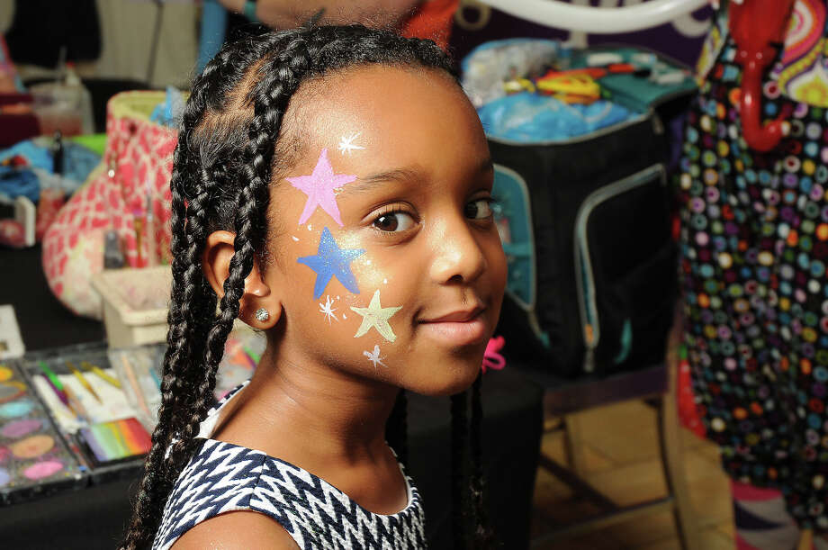 Ariam Henok, 5, backstage at the MD Anderson Back to School Fashion Show at the Galleria.  Photo: Dave Rossman/For The Chronicle, Dave Rossman