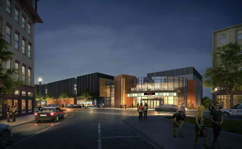 New rendering for the proposed 11-theater multiplex movie theater project from Bow Tie Cinemas at 1 Monument Square in Troy, N.Y. (City of Troy)