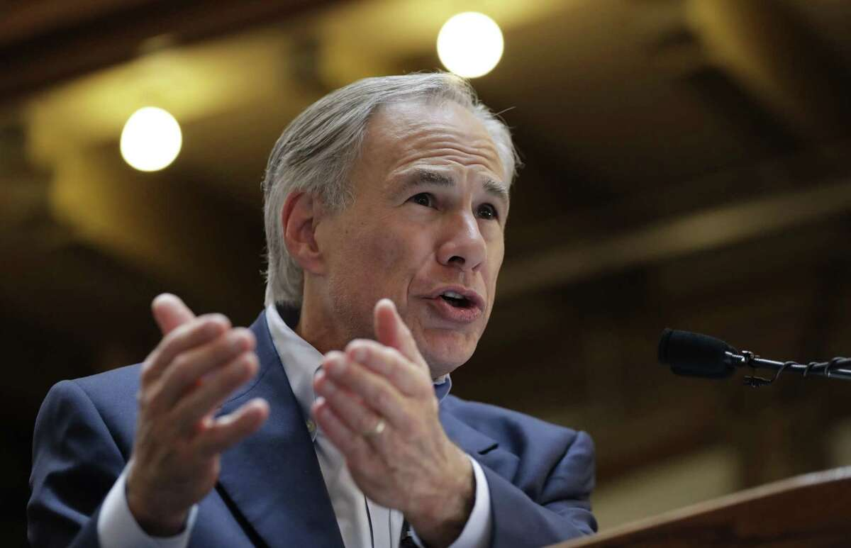 Gov. Greg Abbott speaks at an event in San Antonio last month. Tuesday, Abbott signed into law a bill that significantly changes the annexation process, a bill that increases reporting requirements for minor abortions and another that requires separate health insurance to cover abortion when it is deemed to be elective and not medically necessary to protect the life of the mother.