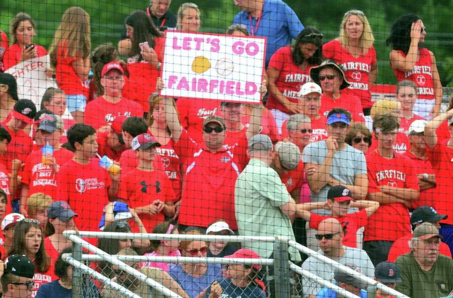 """Fans of Fairfield American have offered great support this summer. """"We call them the 'Red Tsunami,'"""" Fairfield American manager Mike Randazzo said. """"They used to be called the 'Red Sea' but as the season and summer went on, it just kept growing. They come in waves to get to our games. You saw what happened, there were thousands of people supporting us."""" Photo: Christian Abraham / Hearst Connecticut Media / Connecticut Post"""
