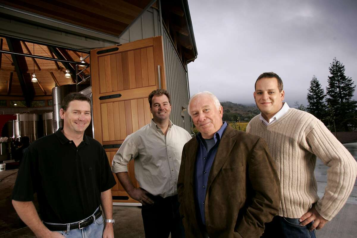 Photos of winemakers at Duckhorn Wine Company. Left-right: Mark Beringer, Bill Nancarrow, Dan Duckhorn, and Zack Rasmusson. 2005