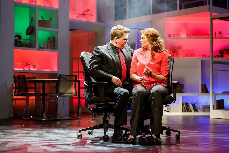 """Brendan Quirk (left) and Caitlin McGinty in """"Next to Normal."""" Photo: Mark Kitaoka And Tracy Martin, Broadway By The Bay"""