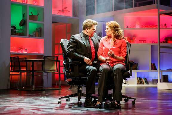 """From left:�Brendan Quirk and Caitlin McGinty in Broadway By the Bay's """"Next to Normal."""""""