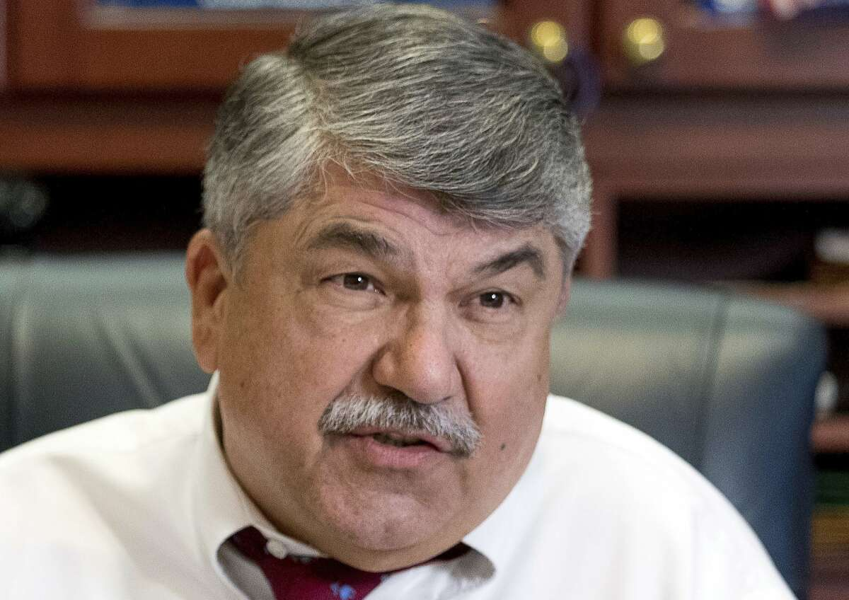 AFL-CIO President Richard Trumka departed the manufacturing jobs council, making him the fifth member to leave. (AP Photo/Andrew Harnik, File)