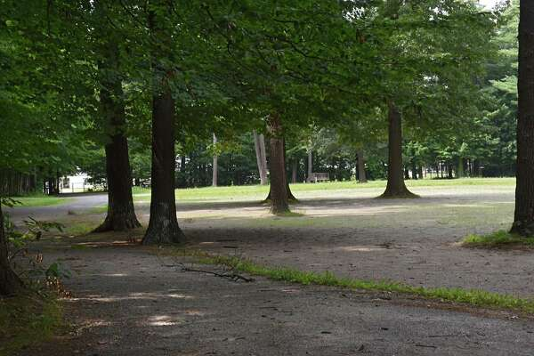 Yaddo is looking to sell this land it owns off Union Avenue near the Oklahoma Training Track stables Tuesday, Aug. 15, 2017 in Saratoga Springs, N.Y.  (Lori Van Buren / Times Union)