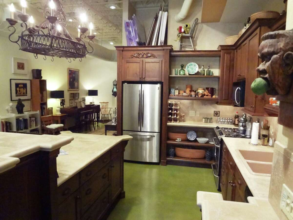 The kitchen is open to the rest of the loft space.