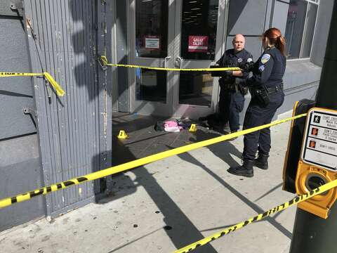 778644153 San Francisco police at the scene of a shooting outside of the Burlington  Coat Factory at