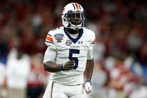 NEW ORLEANS, LA - JANUARY 02:  John Franklin III #5 of the Auburn Tigers looks to throw a pass against the Oklahoma Sooners during the Allstate Sugar Bowl at the Mercedes-Benz Superdome on January 2, 2017 in New Orleans, Louisiana.  (Photo by Jonathan Bachman/Getty Images)