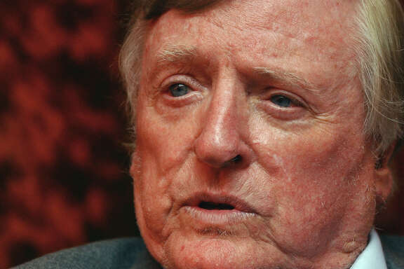 "William F. Buckley Jr., the conservative pioneer and television ""Firing Line"" host, responds to questions during a 2004 interview in New York. Buckley died Feb. 27, 2008. (Frank Franklin II)"