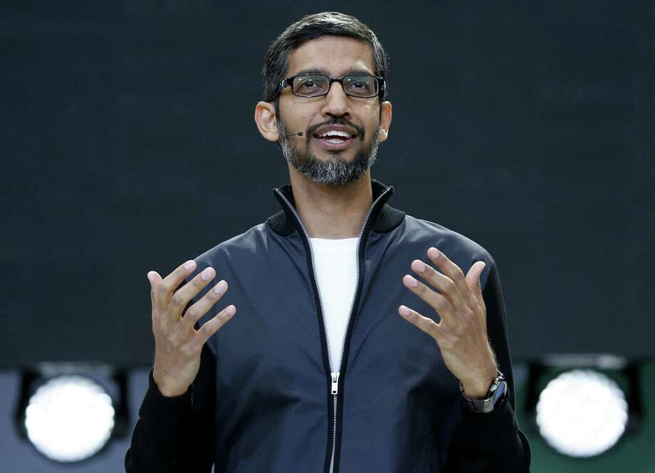 Google CEO Sundar Pichai (left) stood with the mob when he fired engineer James Damore (right) for a memo seeking to scientifically explain why 80 percent of Google's engineers are male. Photo: Paul Chinn /The Chronicle / ONLINE_YES