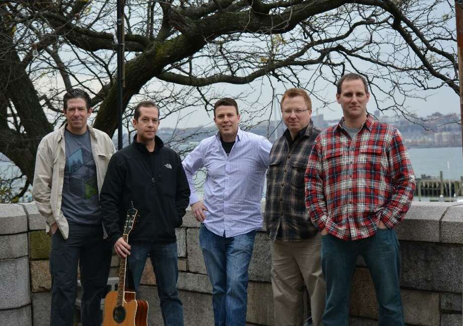 Members of Busker (left to right): Kevin Bannerton, Paul Dubanowitz, Kevin McGuire, Paul Kezmarsky and Chris Telep. Busker will play at the Darien Land Trust Fundraiser in Darien, Conn. on Aug. 26, 2017. Photo: Contributed Photo / Contributed Photo / Darien News contributed