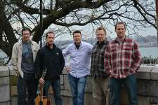 Members of Busker (left to right): Kevin Bannerton, Paul Dubanowitz, Kevin McGuire, Paul Kezmarsky and Chris Telep. Busker will play at the Darien Land Trust Fundraiser in Darien, Conn. on Aug. 26, 2017.