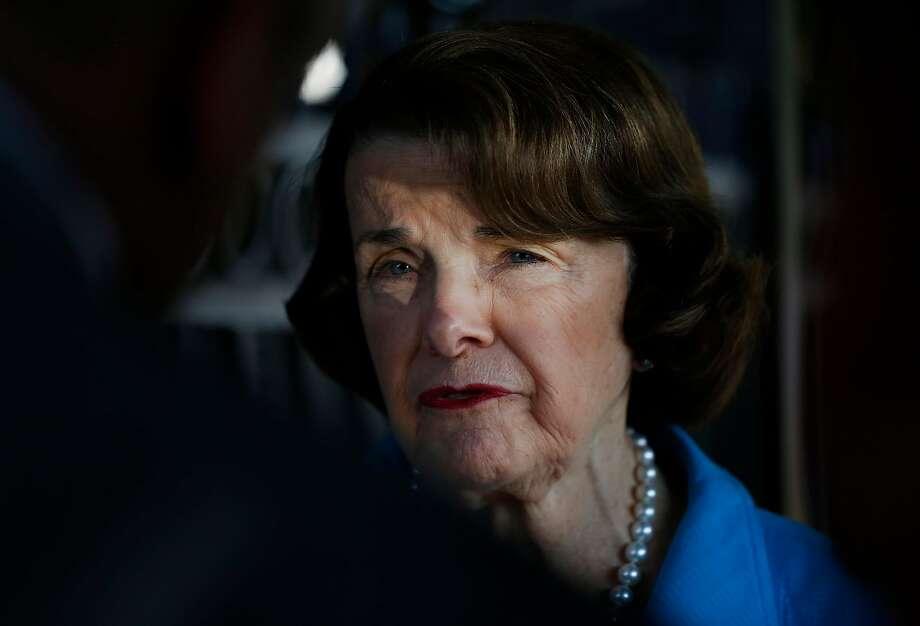 Senator Dianne Feinstein on August 10. Photo: Leah Millis, The Chronicle