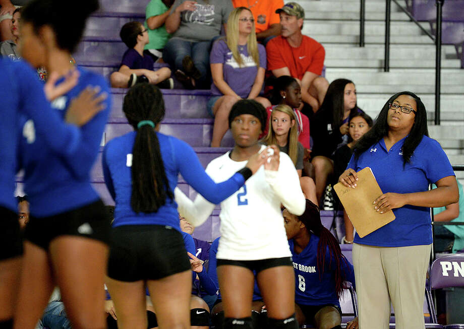 West Brook's head coach takes in the game action as they face Port Neches - Groves during their non-district match-up Tuesday in Port Neches. Photo taken Tuesday, August 15, 2017 Kim Brent/The Enterprise Photo: Kim Brent / BEN